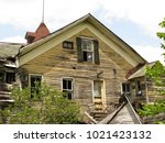 large  unsafe abandoned...   Shutterstock . vector #1021423132