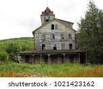large  unsafe abandoned...   Shutterstock . vector #1021423162