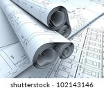 architecture plans in auto cad | Shutterstock . vector #102143146