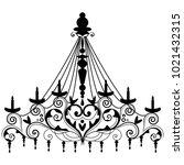chandelier for decoration card | Shutterstock .eps vector #1021432315