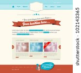 website vector template  ... | Shutterstock .eps vector #102143365