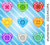 buttons hearts of bright...