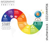 vector infographic design... | Shutterstock .eps vector #1021444936