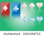 cards suit club and diamond set ...   Shutterstock .eps vector #1021446712