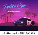 80s retro neon gradient...   Shutterstock .eps vector #1021463545