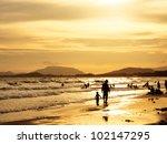 sunset on the beach | Shutterstock . vector #102147295