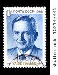 ussr   circa 1986  stamp... | Shutterstock . vector #102147445
