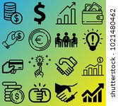business vector icon set... | Shutterstock .eps vector #1021480462
