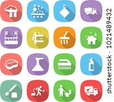 flat vector icon set   factory... | Shutterstock .eps vector #1021489432