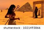 an ancient egyptian woman... | Shutterstock . vector #1021493866
