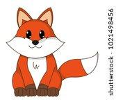 fox cute wild animal character | Shutterstock .eps vector #1021498456