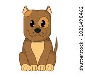 happy dog cute animal character   Shutterstock .eps vector #1021498462
