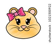 grated female lion head cute... | Shutterstock .eps vector #1021500922