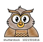 grated adorable owl cute animal ... | Shutterstock .eps vector #1021501816