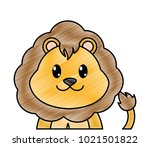 grated adorable lion cute... | Shutterstock .eps vector #1021501822