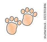 grated human footprint with... | Shutterstock .eps vector #1021501846