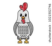 grated rooster cute farm animal ... | Shutterstock .eps vector #1021502746