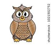 grated owl cute wild animal... | Shutterstock .eps vector #1021502752
