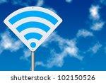 wi fi zone concept. wifi board... | Shutterstock . vector #102150526