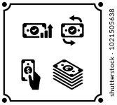 money set icon vector | Shutterstock .eps vector #1021505638