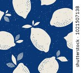 seamless pattern with citrus... | Shutterstock .eps vector #1021507138