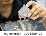 welding inspection on butted... | Shutterstock . vector #1021508422