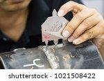 welding inspection on butted...   Shutterstock . vector #1021508422
