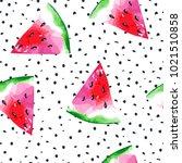 watercolor seamless pattern... | Shutterstock . vector #1021510858