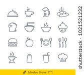 food related icons   vectors... | Shutterstock .eps vector #1021521232