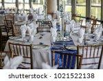 wedding table settings.wedding... | Shutterstock . vector #1021522138