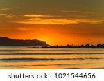 sunrise seascape and... | Shutterstock . vector #1021544656