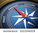 compass needle pointing present ...   Shutterstock . vector #1021546318