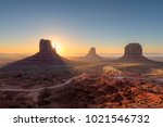 beautiful monument valley at... | Shutterstock . vector #1021546732