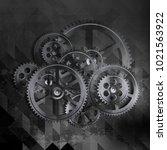 abstract grunge technology... | Shutterstock .eps vector #1021563922