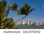 marina bay singapore asia...   Shutterstock . vector #1021570252