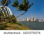 marina bay singapore asia...   Shutterstock . vector #1021570276