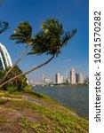 marina bay singapore asia...   Shutterstock . vector #1021570282