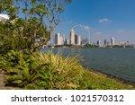 marina bay singapore asia...   Shutterstock . vector #1021570312