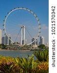 marina bay singapore asia...   Shutterstock . vector #1021570342