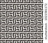 interlacing lines maze lattice. ... | Shutterstock .eps vector #1021581172