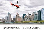 helicopter tour in new york city | Shutterstock . vector #1021590898