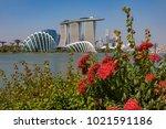 marina bay singapore asia...   Shutterstock . vector #1021591186