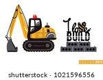 vector toy crawler excavator... | Shutterstock .eps vector #1021596556