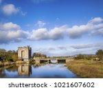 beautiful scenic irish castle... | Shutterstock . vector #1021607602