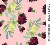 seamless watercolor pattern... | Shutterstock . vector #1021613422