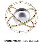 atom sign isolated on white... | Shutterstock . vector #102161368