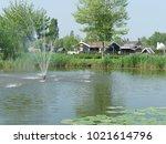 fountain in a recreation part... | Shutterstock . vector #1021614796