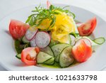 Close Up Of A Salad With Fresh...