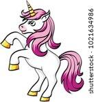 unicorn vector icon isolated on ...   Shutterstock .eps vector #1021634986