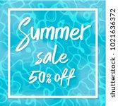 summer sale vector illustration ... | Shutterstock .eps vector #1021636372